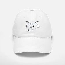 Higgs Boson Diagram Baseball Baseball Cap