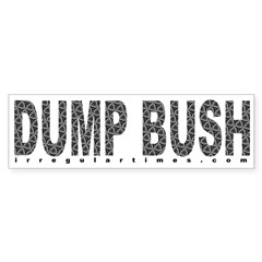 Dump Bush Swirls Bumper Bumper Sticker