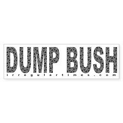 Dump Bush Swirls Bumper Bumper Sticker