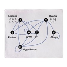 Higgs Boson Diagram Throw Blanket