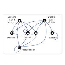 Higgs Boson Diagram Postcards (Package of 8)