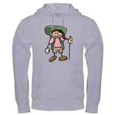Happy Hiker Girl Hoodie Distressed