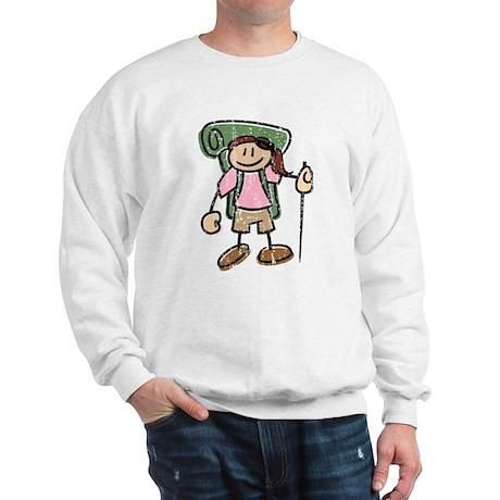Happy Hiker Girl Sweatshirt Distresse