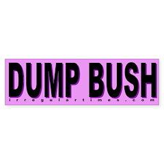 Dump Bush Lavender Bumper Bumper Sticker