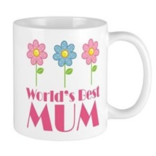 Mum (Worlds Best) Flowered Small Mug