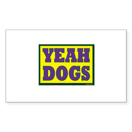 YEAH Dogs Sticker (Rectangle)