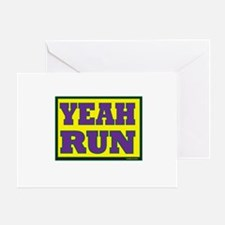 YEAH Run Greeting Card