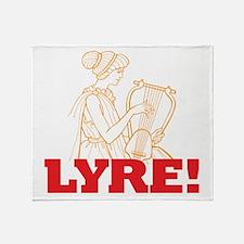 Lyre Throw Blanket