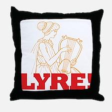 Lyre Throw Pillow