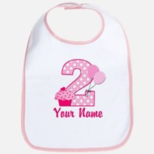 2nd Birthday Cupcake Bib