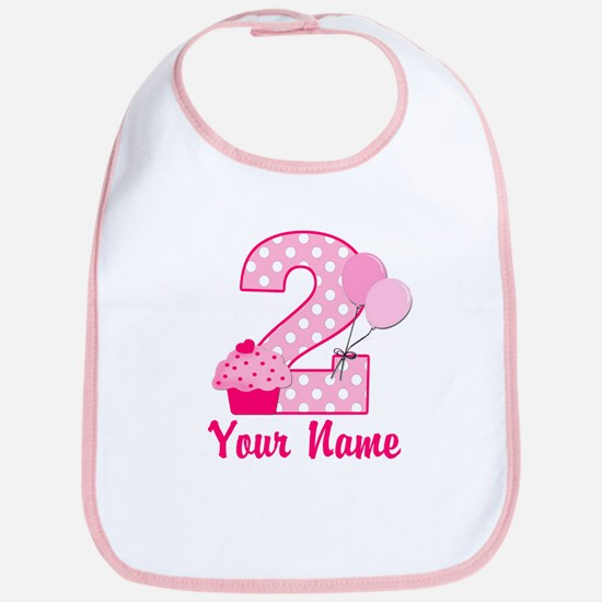 2nd Birthday Cupcake Bib