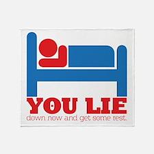 You Lie Throw Blanket