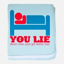 You Lie baby blanket
