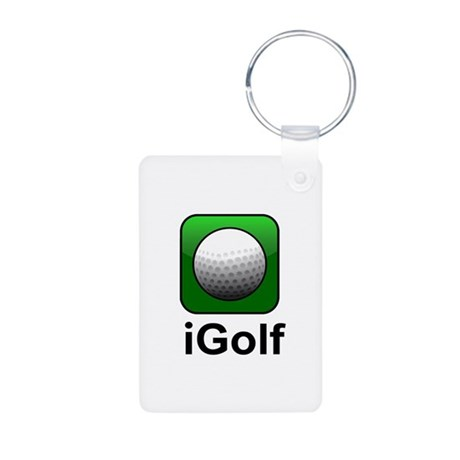 iGolf (Ball) Aluminum Photo Keychain