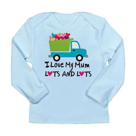 I Love Mum Heart Truck Long Sleeve Infant T-Shirt