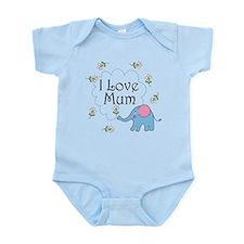 I Love Mum Cute Infant Bodysuit