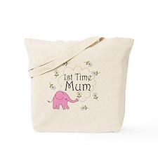 1st Time Mum Cute Tote Bag
