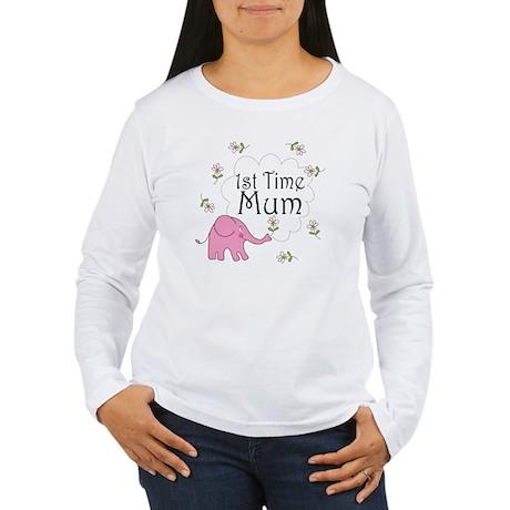 1st Time Mum Cute Women's Long Sleeve T-Shirt