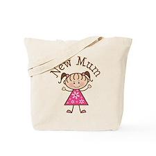 New Mum Stick Figure Tote Bag