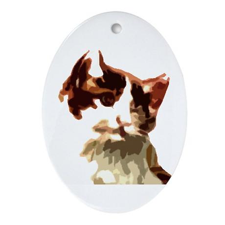 kittykat Ornament (Oval)