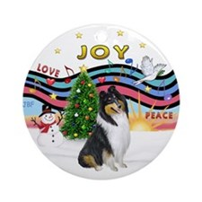 XMusic1-Collie (Tri3) Ornament (Round)