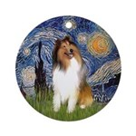 Starry Night - COllie (#1) Ornament (Round)