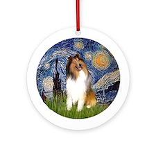Starry Night - COllie (#1) Ornament (Round)