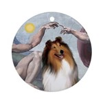 Creation of the Collie (#1) Ornament (Round)