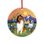 Fantasy Land - Collie (#1) Ornament (Round)