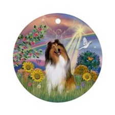 Cloud Angel - Collie (#1) Ornament (Round)