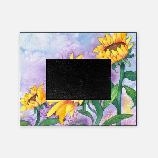 Sunny Sunflowers Watercolor Picture Frame
