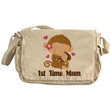 1st Time Mum Monkey Messenger Bag