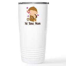 1st Time Mum Monkey Travel Mug