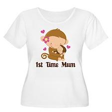 1st Time Mum Monkey T-Shirt