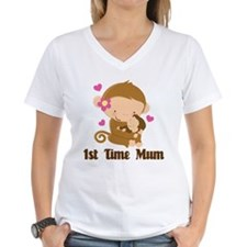1st Time Mum Monkey Shirt