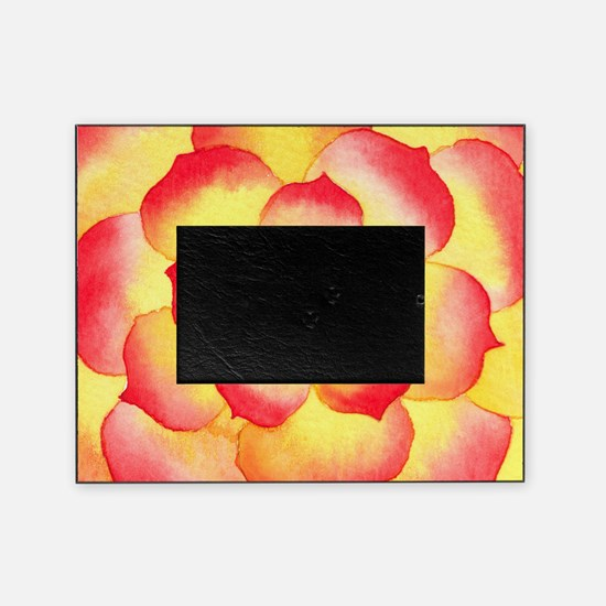 Flame Tip Flower Watercolor Picture Frame