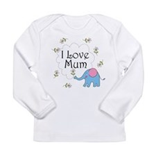 I Love Mum Cute Long Sleeve Infant T-Shirt
