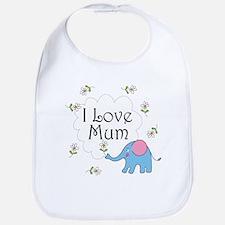 I Love Mum Cute Bib
