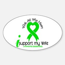 With All My Heart Lymphoma Sticker (Oval)