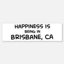 Brisbane - Happiness Bumper Car Car Sticker