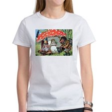 Gnome Outside his Toadstool Cottage Tee