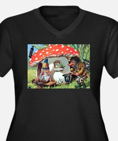 Gnome Outside his Toadstool Cottage Women's Plus S