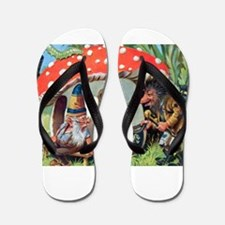 Gnome Outside his Toadstool Cottage Flip Flops