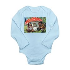Gnome Outside his Toadstool Cottage Long Sleeve In