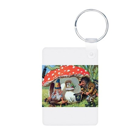 Gnome Outside his Toadstool Cottage Aluminum Photo