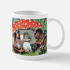 Gnome Outside his Toadstool Cottage Mug
