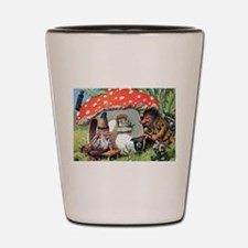 Gnome Outside his Toadstool Cottage Shot Glass