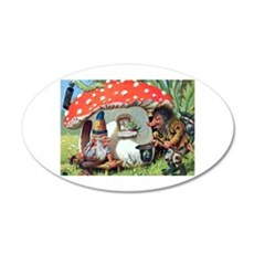 Gnome Outside his Toadstool Cottage Wall Decal
