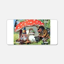 Gnome Outside his Toadstool Cottage Aluminum Licen