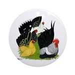 Japanese Bantam Group Ornament (Round)
